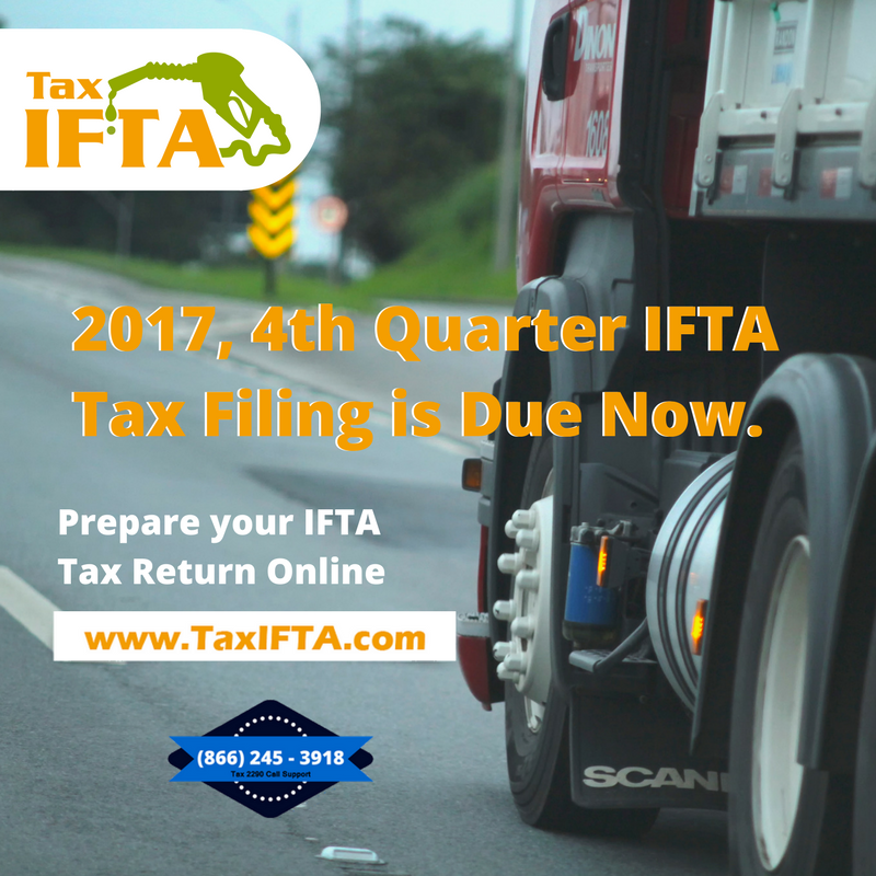 IFTA Tax Filing is due now